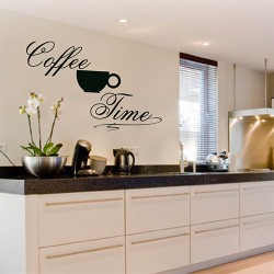 Tekststicker Coffee Time