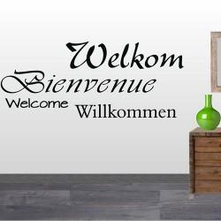 Tekststicker Welkom