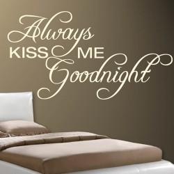 Tekststicker Kiss me goodnight