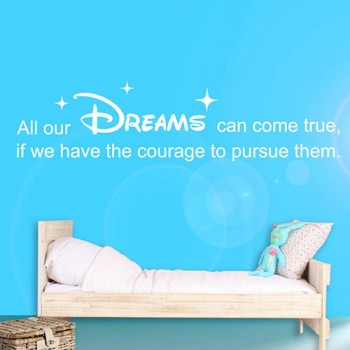 Tekststicker Citaat Walt Disney - Dreams