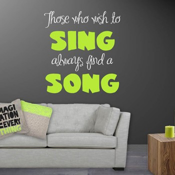 Interieursticker Wish to sing a song