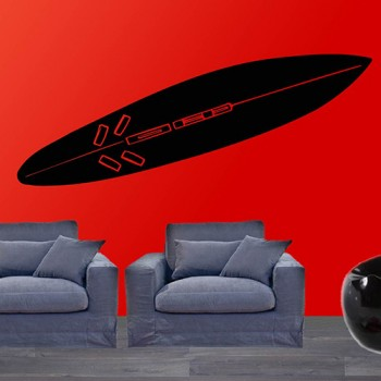 Muursticker Surfboard