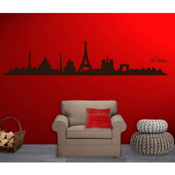 Interieursticker Parijs Skyline