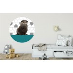 Ronde sticker Otter